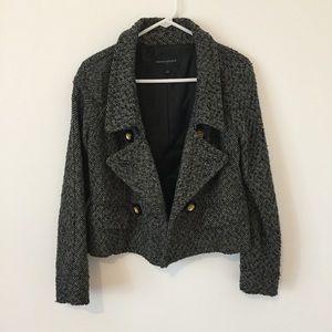 Banana Republic grey black herringbone jacket S
